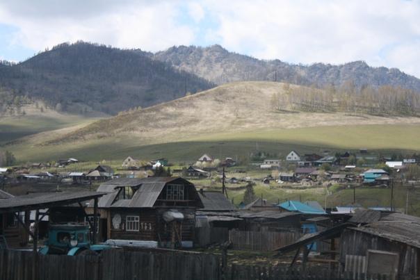 Фрагмент Алтайской деревни.