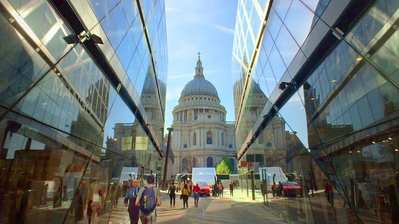 LONDON WALK from One New Change to St Paul's Cathedral | England