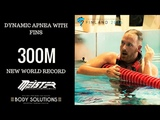 300M UNDERWATER SWIM ON A SINGLE BREATH | FREEDIVING WORLD RECORD BY GIORGOS PANAGIOTAKIS