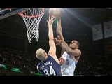 Serge Ibaka Opens the Game With the Facial on Greg Stiemsma!