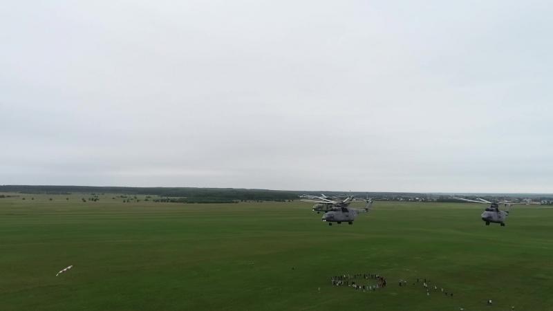 Ми-26 улетают из Аэроград Коломна