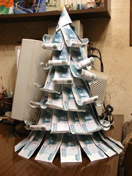 Ялинка-подарунок на Новий Рік з грошей