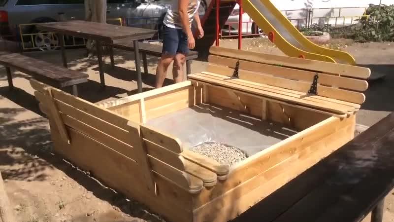 Песочница из лиственницы 😎 gtcjxybwf bp kbcndtyybws 😎