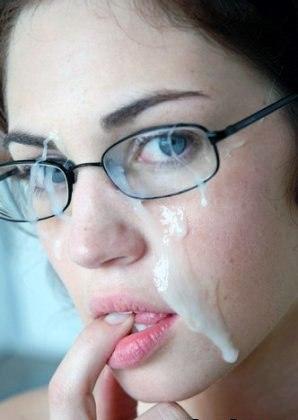 сперма на очках: