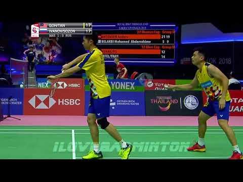 GOH TAN vs IVANOV SOZONOV Thomas Uber Cup Finals 2018 Badminton