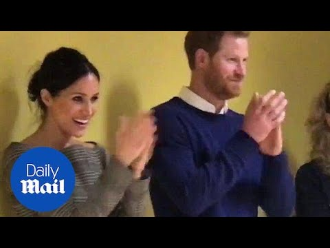 Meghan and Harry watch Willow High School pupils performing Daily Mail