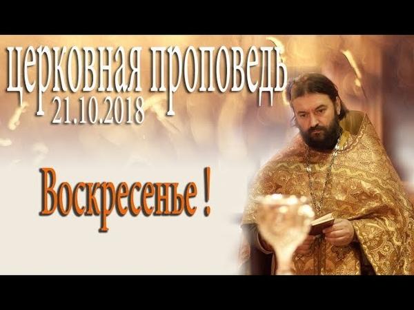 Проповедь после воскресной литургии 21.10.2018. Протоиерей Андрей Ткачёв
