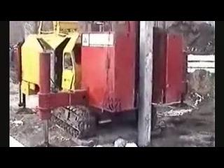 Вдавливание составных железобетонных свай установкой СВУ...