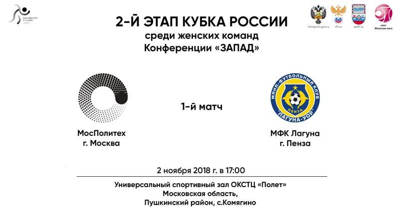 МосПолитех - Лагуна-УОР. Кубок России. II этап. Первый матч.