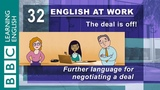 Negotiating a deal - 32 - English at Work helps you get the best deal