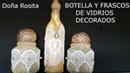 Manualidades faciles con reciclaje de botella y frascos de vidrios paso a paso