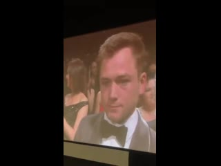 Taron Egerton is crying at the end of Rocketman. Cannes2019