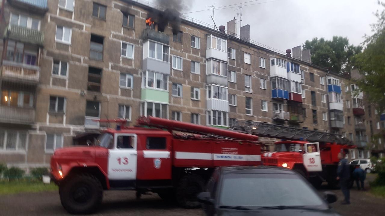 Пожар в Новокузнецке: утром 14 июля загорелась многоэтажка