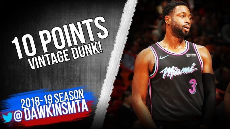 Dwyane Wade Full Highlights 2018 12 20 Heat vs Rockets vs 10 Pts ViNTAGE DUNK FreeDawkins
