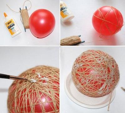 Елочная игрушка своими руками шар