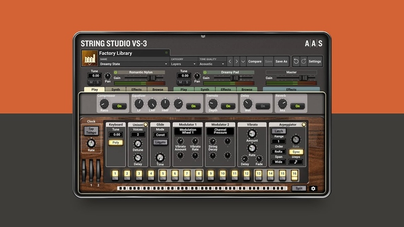 Introducing String Studio VS 3 string oscillator synthesizer plug in VST AU AAX NKS Applied Acoustics Systems 2018