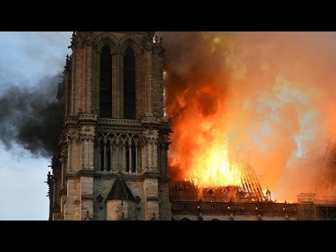 В Париже сгорел собор Парижской Богоматери Нотр-Дам-де-Пари 2019 HD