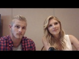 Alexander Ludwig and Katheryn Winnick Interview - Vikings