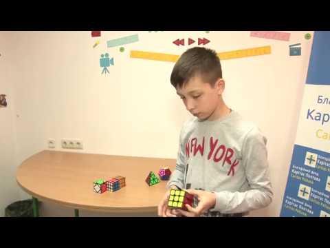 Восьмикласник Влад Заплотний переміг у змагання зі швидкісного збирання кубика Рубіка