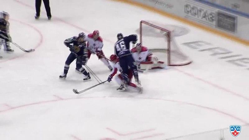 Моменты из матчей КХЛ сезона 14/15 • Лучшие моменты первого периода 22.02