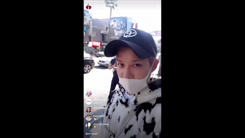 IG live by Kang Sung Hoon (18.05.2018)
