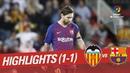 Resumen de Valencia CF vs FC Barcelona (1-1)