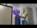 Процесс создания букета из воздушных шаров