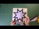 Как сшить блок Одинокая звезда LeMoyne Star с ободком.