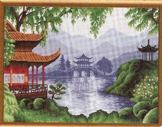 """Схема вышивки  """"Тайский пейзаж """": схема."""