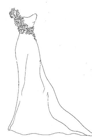 Легкие картинки для срисовки платья