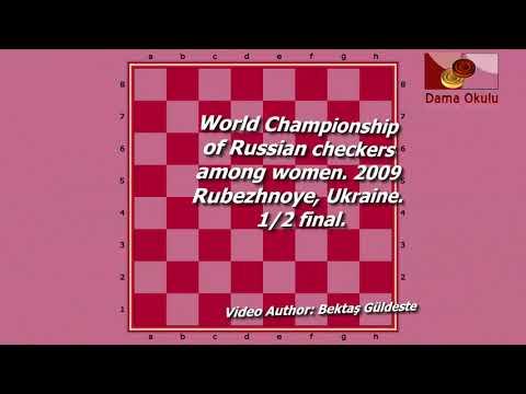 Pivovarska Katazhina (POL) - Korotkaya Yelena (UKR). World Draughts-64_women. Semifinal.