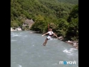 Полёт на тарзанке через реку Бзыбь. Абхазия.