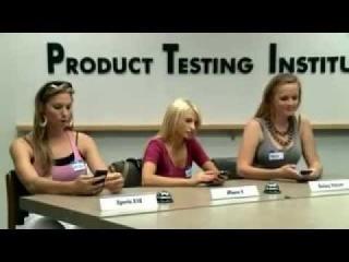 Приколы про блондинок. Модели против смартфонов - кто кого? Отличный рекламный прикол про блондинок