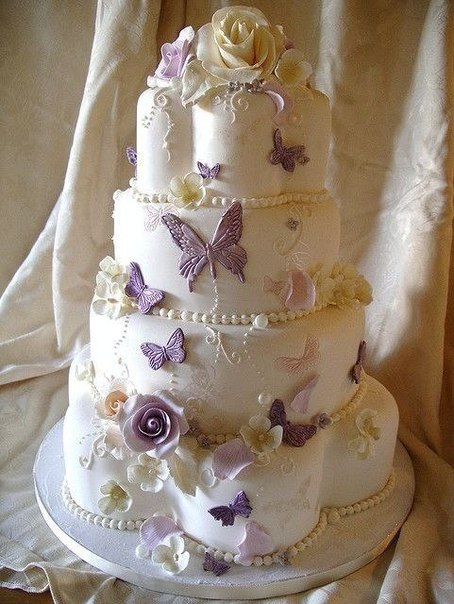 Украсить свадебные торты фото