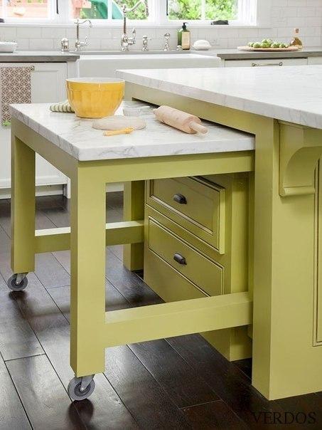 Дополнительная рабочая поверхность на кухне.