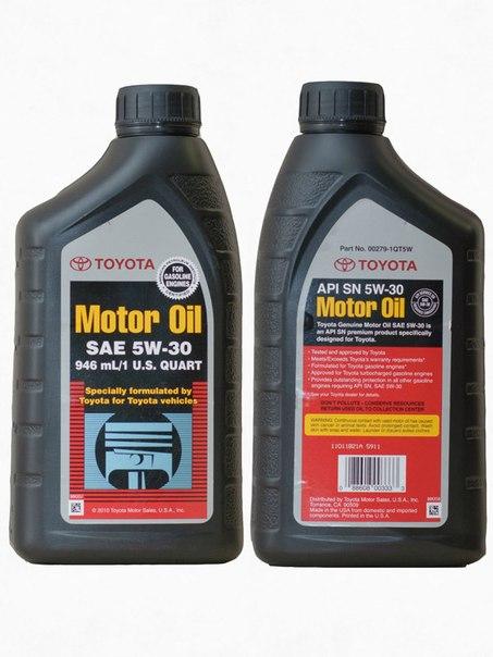 масло toyota 5w30 полусинтетика