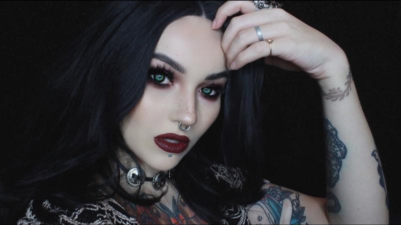 So vampydark red eyes lipsdeck of scarlet makeup tutorial
