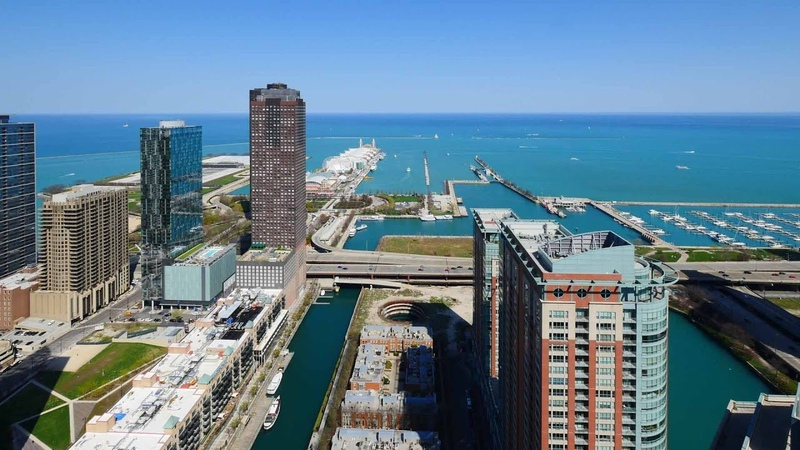 In Streeterville, a North Water penthouse with panoramic lake views