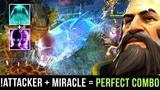 Miracle- Spectre + !Attacker Kunkka - Perfect Combo Ghost Ship + Haunt - Dota 2 Gameplay
