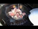 Узбекский плов в казане на гриле - наш канал на youtube