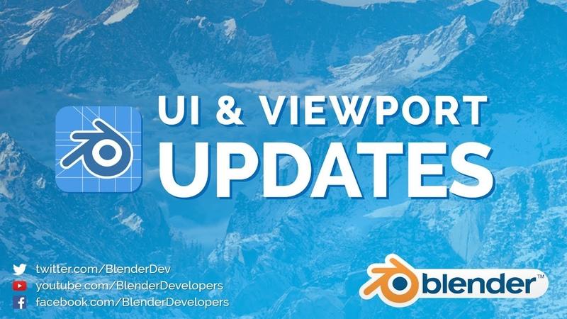 UI Viewport Updates! - Blender 2.8