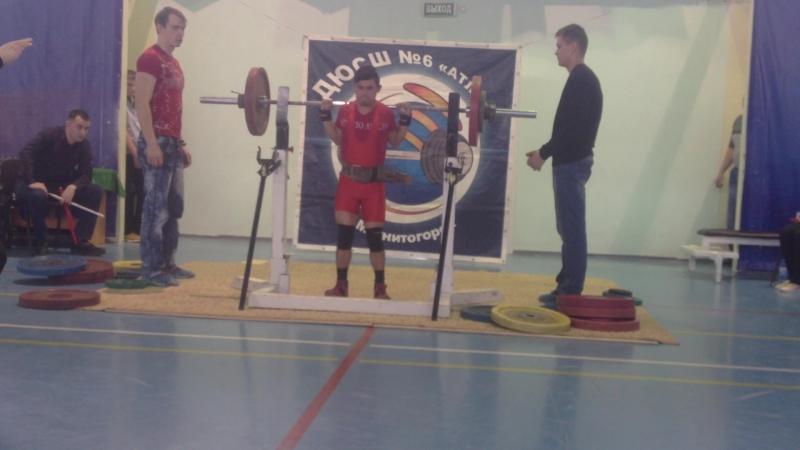Алимгулов Линар присед 85 кг при весе 48 кг