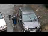 Car washing during a rain (Мытьё машины в дождь)!