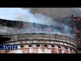 Пожар на Соломбальском ЦБК в Архангельске, 4.07.14