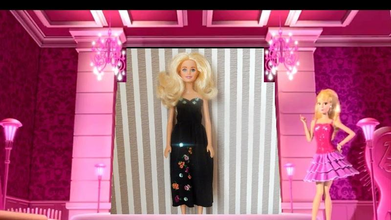 Ну очень, красивое платье с вышивкой для Барби и Монстер Хай своими руками