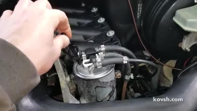 Меняйте клапан обратки на топливном фильтре раз в несколько лет на Mercedes Spri