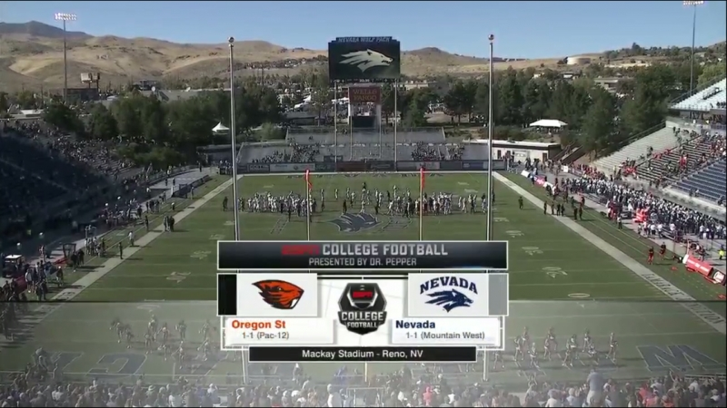 NCAAF 2018 / Week 03 / Oregon State Beavers - Nevada Wolf Pack / 1Н / EN