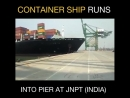 The pier Jawaharlal Nehru Port outside Mumbai, India