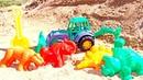 Развивающий мультик для малышей. Мультфильм машинки, формочки и песочница
