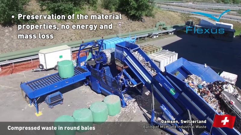 Flexus Balasystem - Compressed Waste in Round Bales